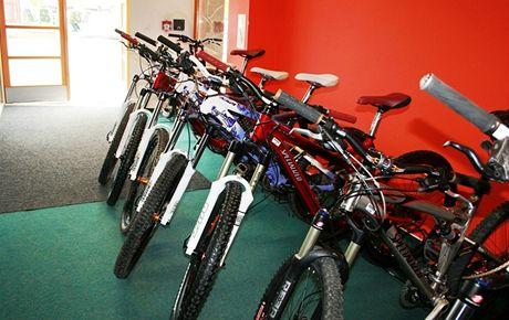 Bikepark na Lipně, půjčovna kol