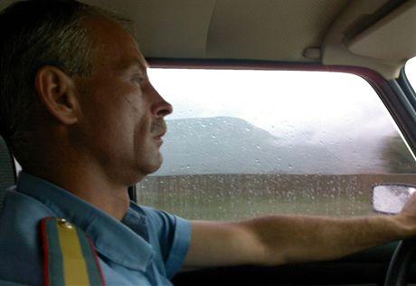 Můj zachránce - milicionář Genadij Vladimirovič Genskij mi nabídl nocleh a ráno mě ještě popoveze do města Karačaevsk