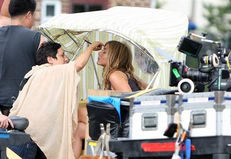 Z natáčení filmu The Bounty - Jennifer Anistonová