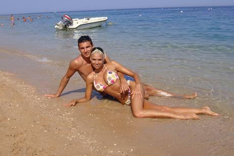 Hana Mašlíková s přítelem Sašou na dovolené v Egyptě