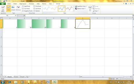 Office 2010 - Excel sparkline