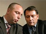 Petr Benda a Jiří Paroubek: Asistent se svým šéfem.
