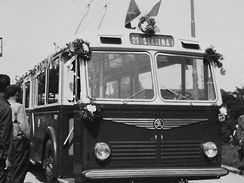 Historické trolejbusy v Brně - 7Tr, linka číslo 21 do Slatiny
