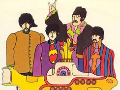 Grafické zpracování Žluté ponorky pro The Beatles z dílny Heinze  Edelmanna