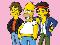 Homer s Mickem Jaggerem a Keithem Richardsem z Rolling Stones