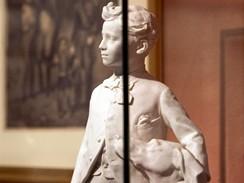 Korsika, Ajjacio. Napoleonův rodný dům, součástí expozice je  i socha vladaře v dětském věku