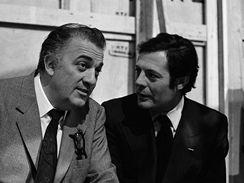 Federico Fellini a Marcelo Mastroianni