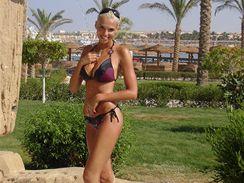 Hana Mašlíková na dovolené v Egyptě