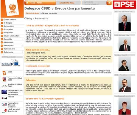 Internetové stránky ČSSD