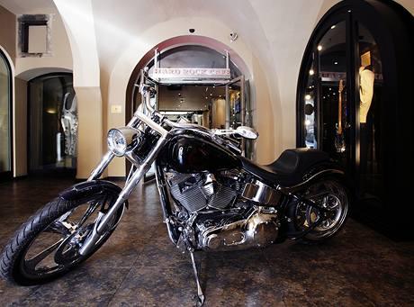 Silné motorky k rockerům patří, na této se rádi nechávají fotit i návštěvníci