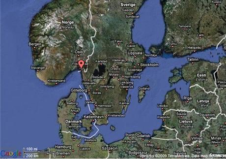 Mapa Švédska
