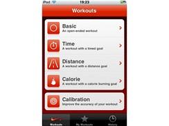 iPod Touch a Nike+ - základní obrazovka
