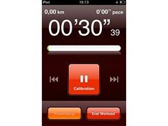 iPod Touch a Nike+ - probíhající kalibrace čidla