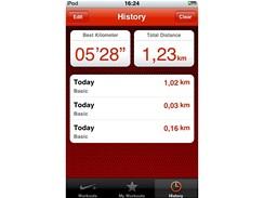 iPod Touch a Nike+ - souhrnné výsledky pro všechny uskutečněné běhy