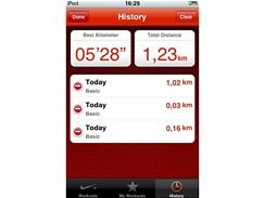 iPod Touch a Nike+ - souhrnné výsledky lze z iPodu Touch i mazat