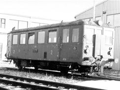 Motoráček M131.1133 zvaný Hurvínek ve stavu před začátkem renovace 3.3.1987