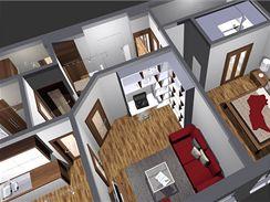 Kompletní rekonstrukce bytu 2+1. Dvě varianty řešení