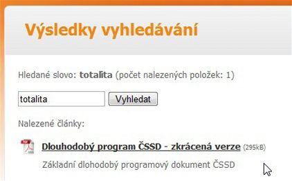 ČSSD web