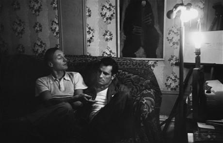 William S. Burroughs a Jack Kerouac na fotografii Allena Ginsberga