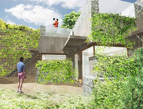 Vizualizace - majitelé budou moci jako zahrádku využívat i střechu