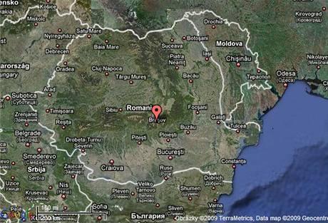 Mapa Rumunska