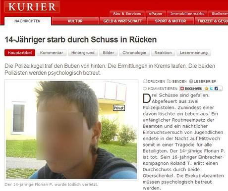 Rakouský deník Kurier