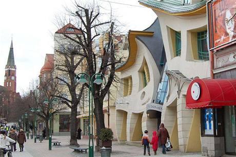 Zohýbaný dům od architektonického studia Szotyńscy
