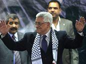 Mahmúd Abbás na sjezdu Fatahu v Betlémě (4. srpna 2009)