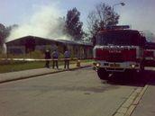 Požár v Břeclavi