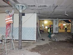 Oprava haly Rondo: do dokončení zbývá měsíc a práce finišují