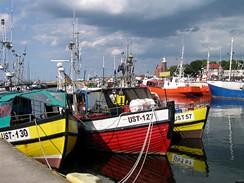 Polsko, přístav Ustka