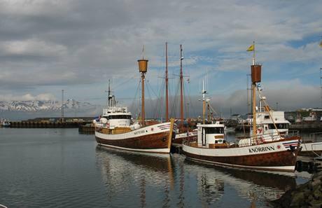 Příprava na velrybářskou výpravu - na Islandu v přístavu Húsavík