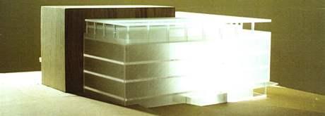 Univerzitní knihovna jako prosklená kostka. (1995)