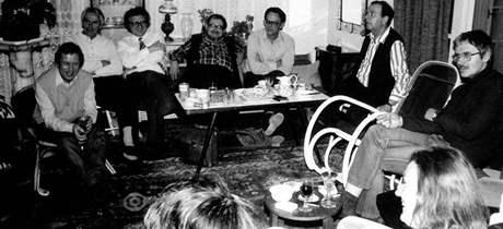 Trefulka, Uhde, Havel a další v roce 1986.