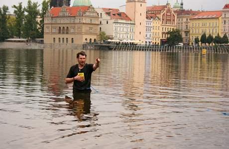 Z natáčení filmu Největší z Čechů - David Švehlík v akci