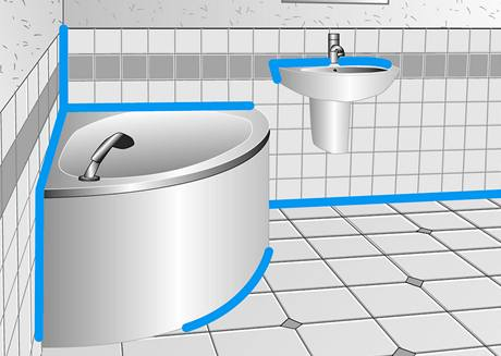 Klasické využití sanitárního silikonu