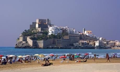 Španělská pláž Peníscola