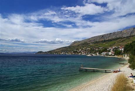 Pláž Dugi Rat  v Chorvatsku