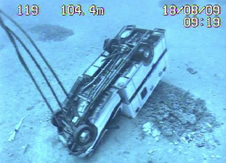 Potopený tonžský trajekt Princess Ashika na mořském dně