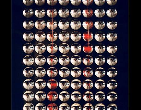 Milan Dobeš: Pohyb červených bodov II., 1996