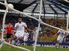 Česko - Belgie: Baroš proměňuje penaltu