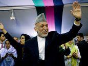 Kandidát na afghánského prezidenta Hamíd Karzáí