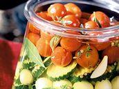 Zelenina ve sladkokyselém nálevu