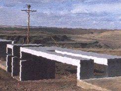 Vizualizace poutní cesty na Černovické terase.