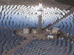 Vizualizace sluneční elektrárny na Černovické terase.