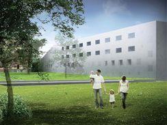 Nemocnice ve tvaru teploměru