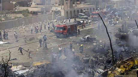 Výbuch v Bagdádu poškodil řadu budov v Zelené zóně (19.8. 2009)