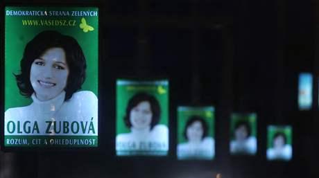 Olga Zubová. Kampaň před volbami do Evropského parlamentu, červen 2009.