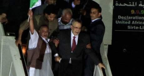 Abdal Basat Alí Muhammad Midžrahí po svém návratu do Libye (20. srpna 2009)