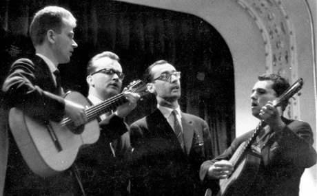 Zakládající sestava Spirituál kvintetu (1960, Jiří Tichota zcela vlevo)